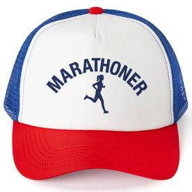 Running Trucker Hat - Marathoner Girl