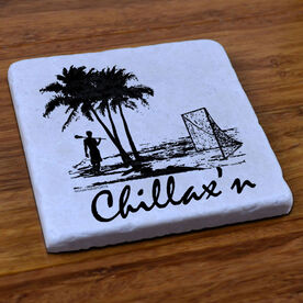 Lacrosse Stone Coaster Chillax'n Beach Male