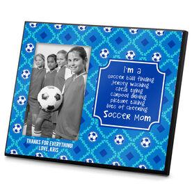Soccer Photo Frame Soccer Mom Poem Pattern