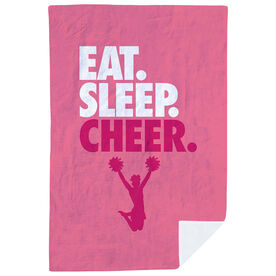 Cheerleading Premium Blanket - Eat. Sleep. Cheer. Vertical