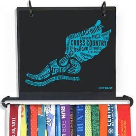 BibFOLIO+™ Race Bib and Medal Display - Inspirational Words Winged Foot