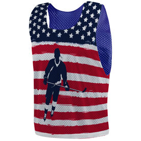 Hockey Pinnie - American Hockey Player