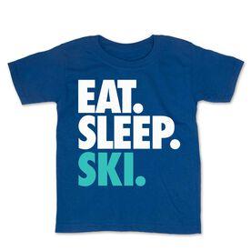 Skiing Toddler Short Sleeve Tee - Eat. Sleep. Ski.