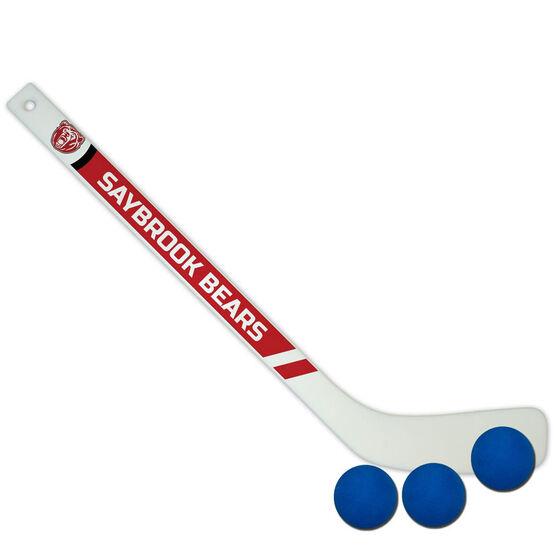 Personalized Knee Hockey Player Stick Team Logo
