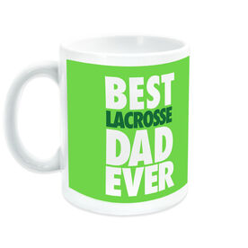 Guys Lacrosse Coffee Mug Best Dad Ever