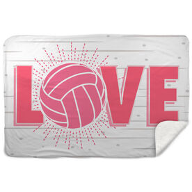 Volleyball Sherpa Fleece Blanket - Love
