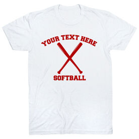 Custom Softball T-Shirt Short Sleeve