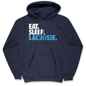Lacrosse Hooded Sweatshirt - Eat. Sleep. Lacrosse.