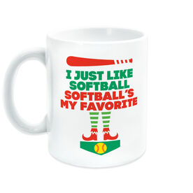 Softball Coffee Mug - Softball's My Favorite