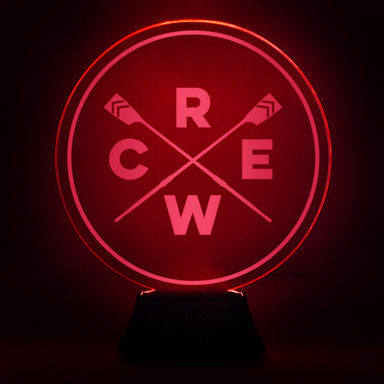 Crew Acrylic LED Lamp Crossed Oars