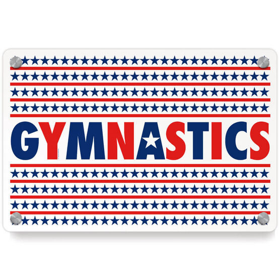 Gymnastics Metal Wall Art Panel - Patriotic Gymnastics