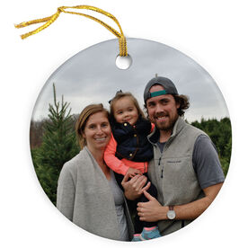 Personalized Porcelain Ornament - Custom Photo