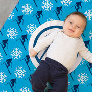 Skiing Baby Blanket - Skiing Pattern