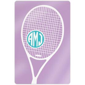"Tennis 18"" X 12"" Aluminum Room Sign - Monogrammed Tennis Life"
