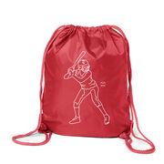 Softball Sport Pack Cinch Sack - Softball Batter Sketch