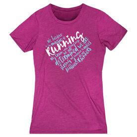 Women's Everyday Runners Tee - Live Love Run Heart