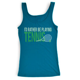 Tennis Women's Athletic Tank Top I'd Rather Be Playing Tennis