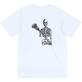 Guys Lacrosse Short Sleeve Performance Tee - Skeleton (Black)