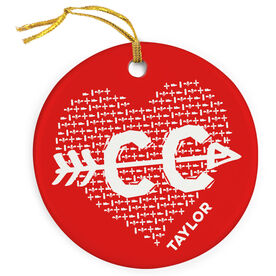 Cross Country Porcelain Ornament Cross Country Love