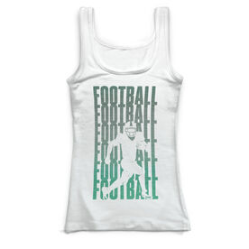 Football Vintage Fitted Tank Top - Fade Silhouette