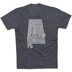 Running Short Sleeve T-Shirt - Alabama State Runner