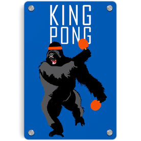 Ping Pong Metal Wall Art Panel - King Pong