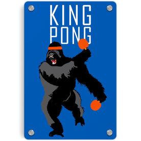 Ping Pong Metal Wall Art Panel - King Pong