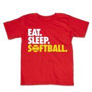 Softball Toddler Short Sleeve Tee - Eat. Sleep. Softball.
