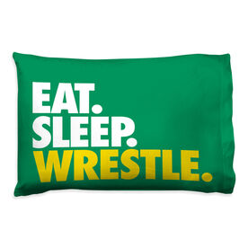 Wrestling Pillowcase - Eat Sleep Wrestle