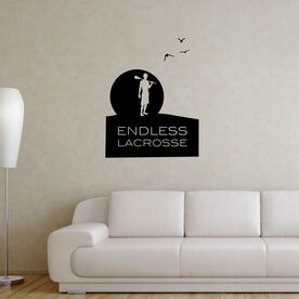 Guys Lacrosse Removable ChalkTalkGraphix Wall Decal - Endless Lacrosse