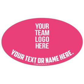 Field Hockey Oval Car Magnet Your Logo