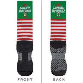 Basketball Printed Mid-Calf Socks - Basketball's My Favorite