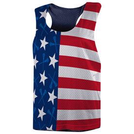 Girls Lacrosse Racerback Pinnie - Patriotic Lax
