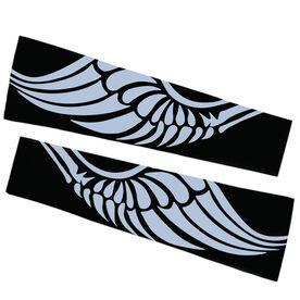 Track & Field Printed Arm Sleeves - Winged Shoe