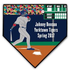 Baseball Personalized Grand Slam Stadium Home Plate Plaque