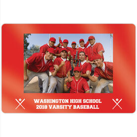 "Baseball 18"" X 12"" Aluminum Room Sign - Team Photo"
