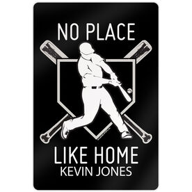"Baseball Aluminum Room Sign (18""x12"") No Place Like Home"