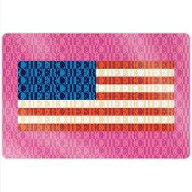 "Cheerleading 18"" X 12"" Aluminum Room Sign - American Flag Mosaic"