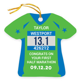 Running Ornament - Custom Bib Shirt