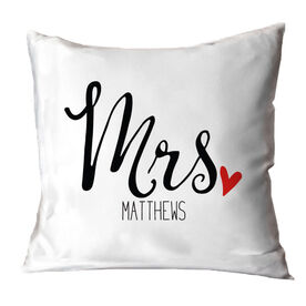 Personalized Throw Pillow - Mrs.