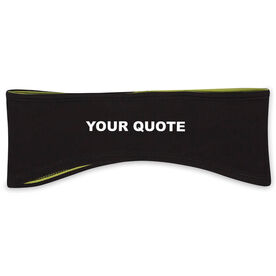 "Personalized Reversible Performance Headband ""Your Custom Quote"""