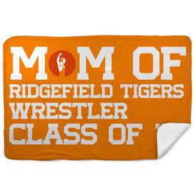 Wrestling Sherpa Fleece Blanket - Personalized Wrestling Mom