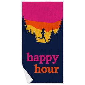 Running Premium Beach Towel - Happy Hour
