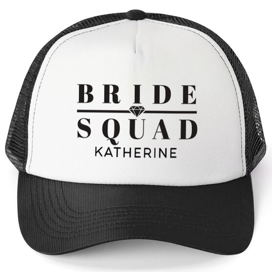 Personalized Trucker Hat - Bride Squad (Diamond)