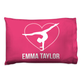 Gymnastics Pillowcase - Personalized Heart