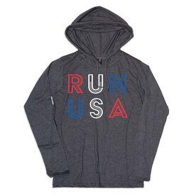 Women's Running Lightweight Hoodie - Run USA