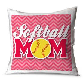 Softball Throw Pillow Softball Mom