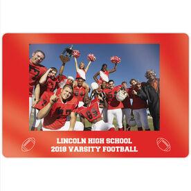 "Football 18"" X 12"" Aluminum Room Sign - Team Photo"