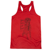 Women's Racerback Performance Tank Top - Life's Short. Let's Run