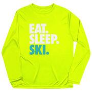 Skiing & Snowboarding Long Sleeve Performance Tee - Eat. Sleep. Ski.